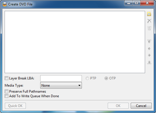 Screenshot - Create DVD File