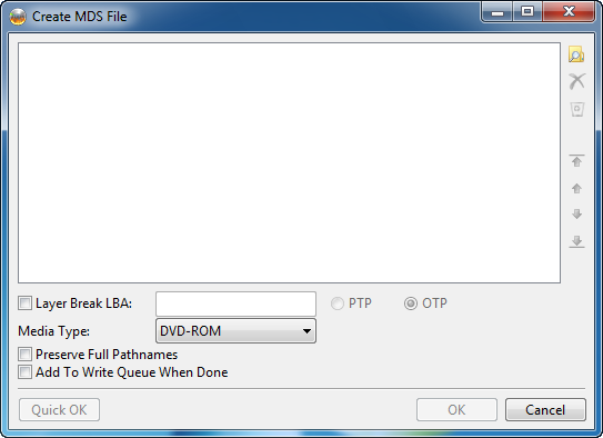 Screenshot - Create MDS File