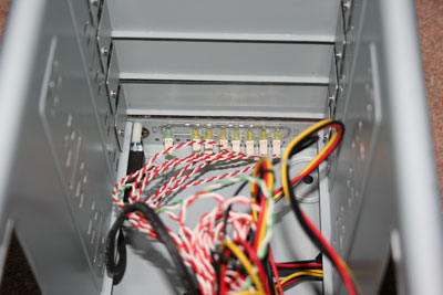 Inside/LED view of Addonics Storage Tower V